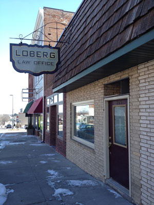 Loberg Law Office Website
